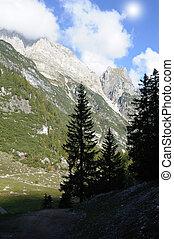 montañas, italiano