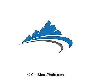 montañas, logotipo