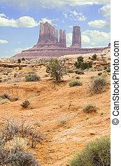 montañas, monumentos, utah, moab, roca, cierre
