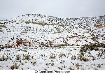 montañas, nevada, nieve, estados unidos de américa, ...