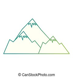 montañas, nieve escena