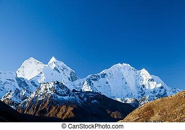 montañas, paisaje, himalaya