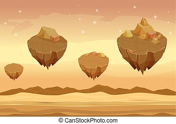montañas, paisaje,  seamless, caricatura, Plano de fondo, desierto, arenoso