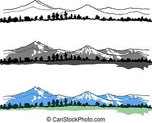 montañas, paisajes