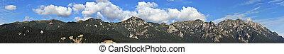 montañas, panorámico, bucegi, vista