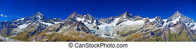 montañas, panorama