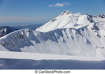 montañas, polyana, (sochi, krasnaya, russia)