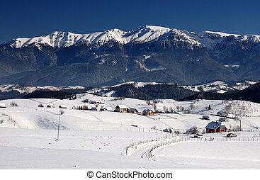 montañas, rumania, bucegi, paisaje, panorama
