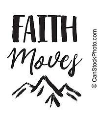 montañas, se mueve, fe