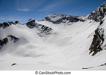 montañas, sochi, polyana, rusia, krasnaya