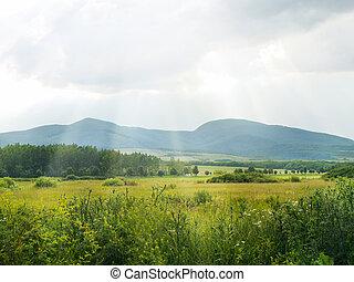 montañas, tokaj, valle