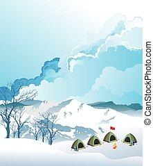 montañismo, campo, base