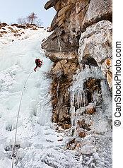 montañismo, hielo