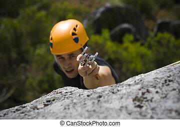 montañismo, hombre, montaña