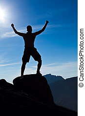 montañismo, hombre, montañas