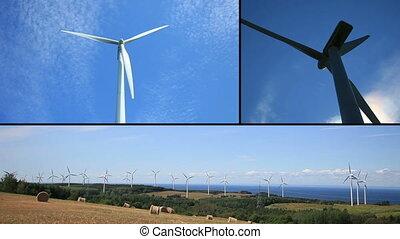 montaż, turbina, wiatr