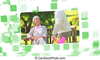 Montage about a senior couple