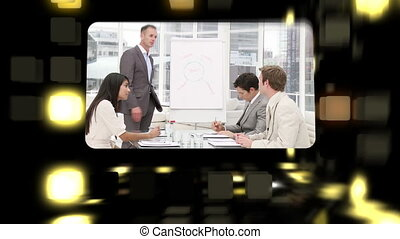 Montage about business meetings