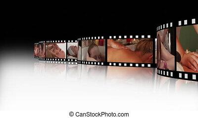 montage, beeldmateriaal, 2, ontspanning, spa, hd