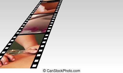 montage, beeldmateriaal, 3, ontspanning, spa, hd