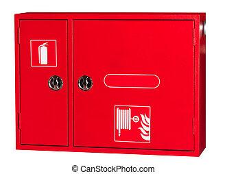 montage, brûler, cabinet, tuyau, industriel, cabinet