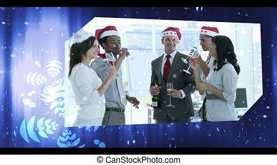 montage, célébrations christmas