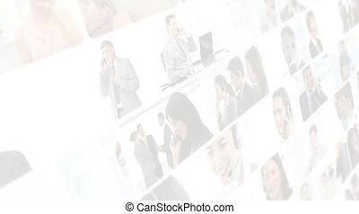 montage, conversation, professionnels