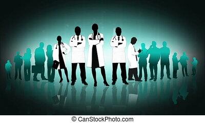 montage, espace copy, monde médical