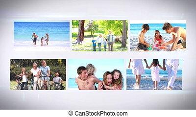 montage, familys, vacances