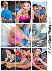 montage, frauen, maenner, gesundheit, fitness