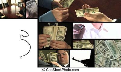 montage, geld