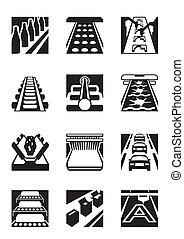 montage, industriel, lignes
