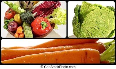 montage, légumes