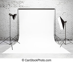 montage, lumière, studio