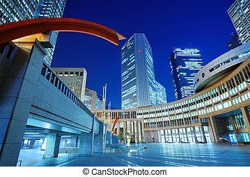 montage, métropolitain, tokyo