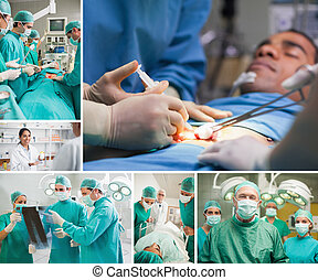 Montage of a sugery - Montage of a surgery in the hospital