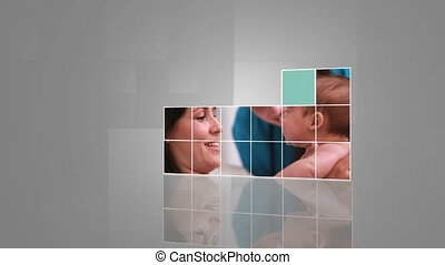 Montage of baby and children in hos