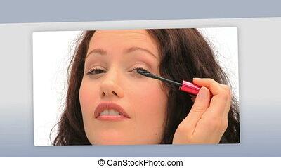 Montage of beautiful women making u