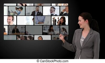 Montage of business communication