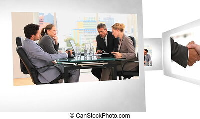 Montage of Business Situations