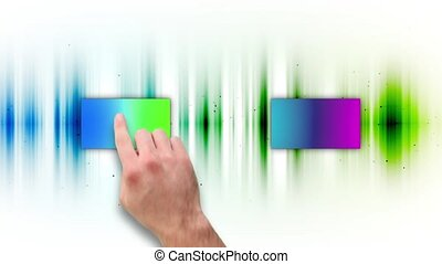 Montage of colorful screens showing