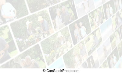 Montage of elderly couples in diffe