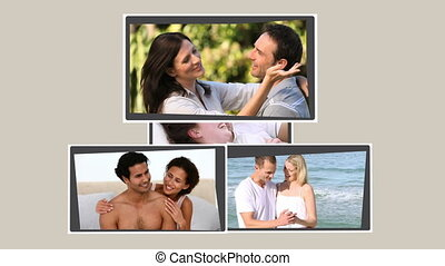 Montage of lovers spending time together