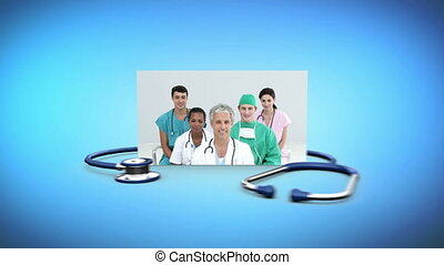 Montage of medical staff