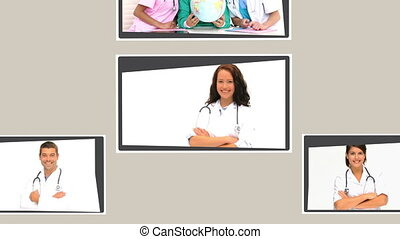 Montage of nurses, doctors