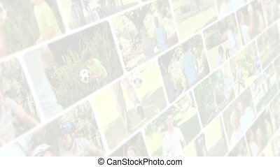 Montage of people playing football