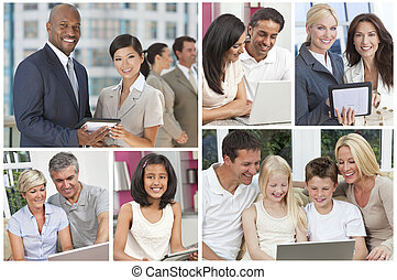 Montage of People Uisng Modern Computer Technology
