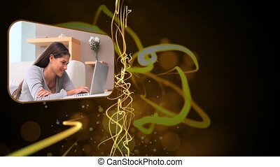 Montage of people using the laptop
