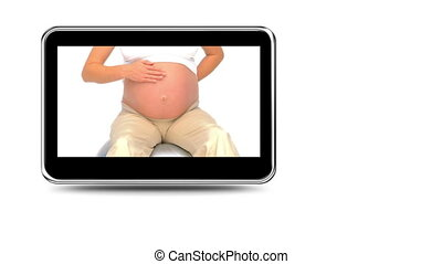 Montage of pregnant women relaxing