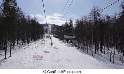 Montage of Ski Resort Shots - Several shots of a ski resort.